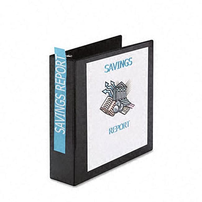 shop avery durable 2-inch black slant easy insert ring view binder