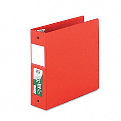 Samsill Antimicrobial 3-Inch Red Round Ring Binder - Thumbnail 0