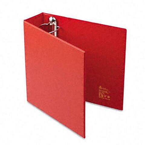Avery 3-Inch Heavy-Duty Red Vinyl EZD Ring Reference Binder