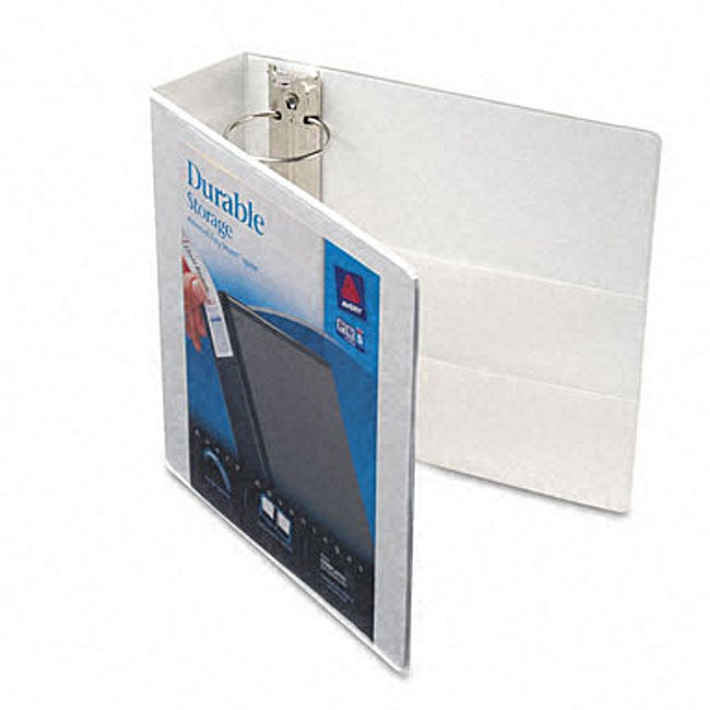 shop avery durable three inch white vinyl view binder free