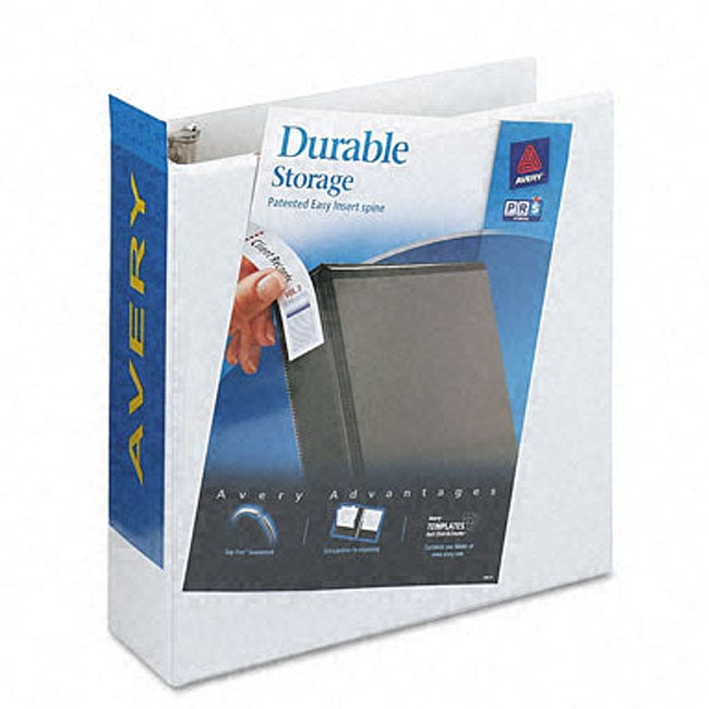 shop avery durable 3 inch slant easy insert ring view binder free