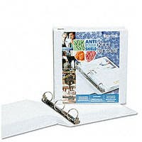 Samsill Antimicrobial 3-inch Round Ring View Binder