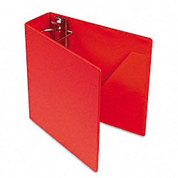 Red Recycled Heavyweight 3-Inch Slant-D Ring Binder