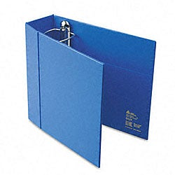 Avery 4-Inch Heavy-Duty Blue Vinyl EZD Ring Reference Binder with Interior Pockets