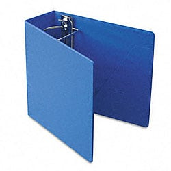 Recycled Heavy-Weight 4-Inch Slant-D Ring Blue Binder