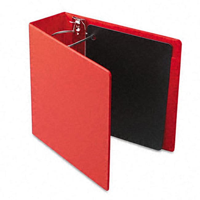 shop recycled heavy weight 4 inch slant d ring red binder free