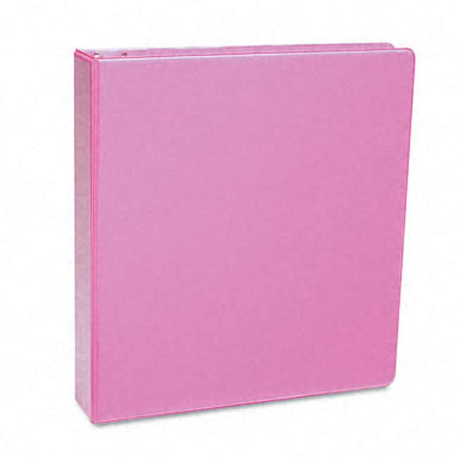 shop samsill antimicrobial 1 inch pink presentation view binder