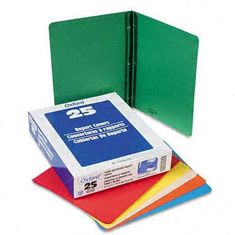 Panel and Border Leatherette Front Report Cover (25 per Box)