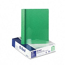 Clear Front Report Cover with Green Leatherette Back (25 per Box)