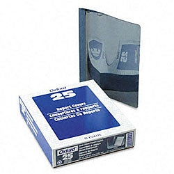 Clear Front Report Cover with Blue Leatherette (25 per Box)