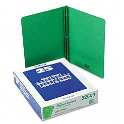 Green Leatherette Front Report Covers (Pack of 25)