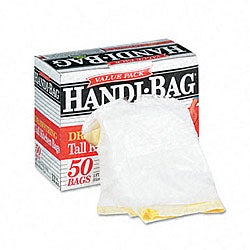 Handi-bag Super Value Drawstring Trash Liners (Case of 50)