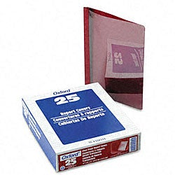 Clear Front Report Covers with Red Back Covers and Spines (25 per Box)