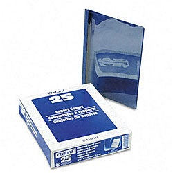 Clear Front Report Covers with Royal Blue Back Covers and Spines (25 per Box)
