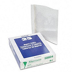 Clear Front Report Covers with White Back Covers and Spines (25 per Box)