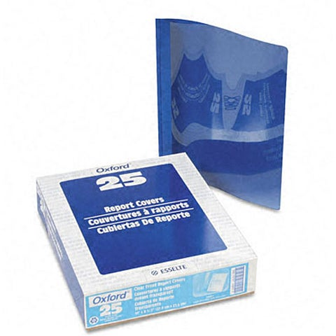 Clear Front Report Covers with Light Blue Back Cover and Spines (25 per Box)