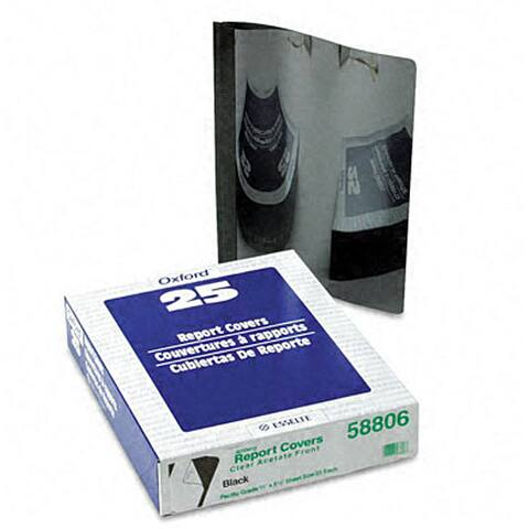 Clear Front Report Covers with Black Back Covers and Spines (25 per Box)