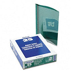 Clear Front Report Covers in Green (25 per Box)