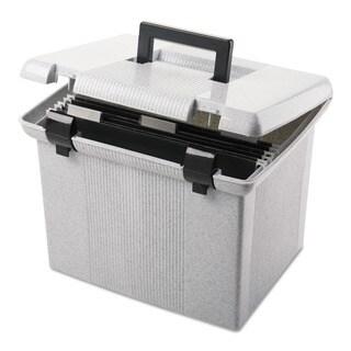 Shop Portafile Black Letter Size Hanging File Box Free Shipping On