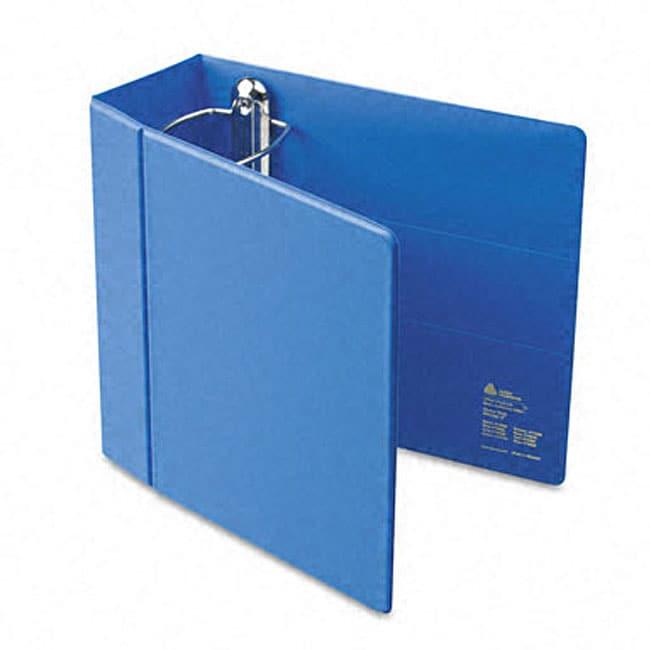 shop avery 5 inch blue 3 ring heavy duty vinyl ezd reference binder