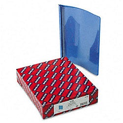 Smead Clear Front Report Cover with Blue Back Cover (25 per Box)