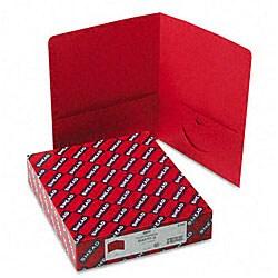 Smead Red Recycled Two-Pocket Portfolios (25 per Box)