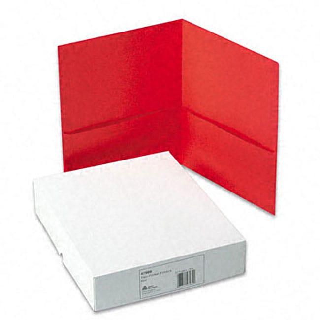 Avery Two-Pocket Red Portfolios (Case of 25)