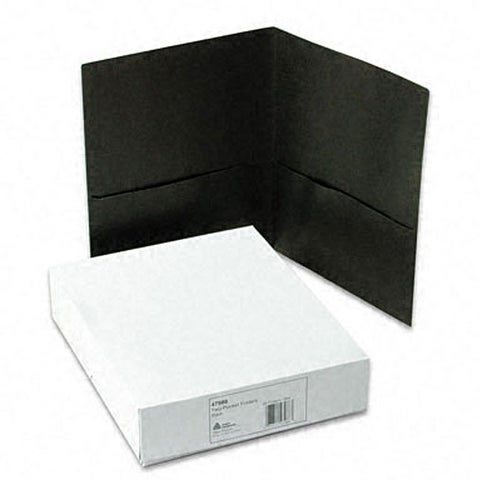 Avery Black Embossed Two-pocket Folder Portfolios (Case of 25)