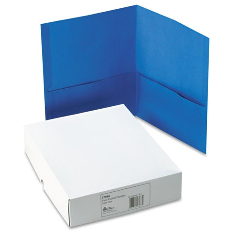 Avery Blue Two-Pocket Portfolios (25 per Box)