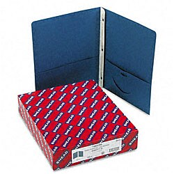 Smead Two-Pocket Dark Blue Portfolios with Tang Fasteners (25 per Box)