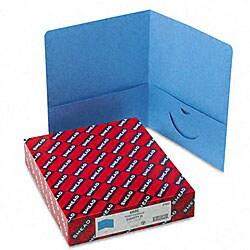 Smead Blue Recycled Two-Pocket Portfolios (25 per Box)