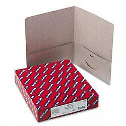 Smead Gray Recycled Two-Pocket Portfolios (25 per Box)