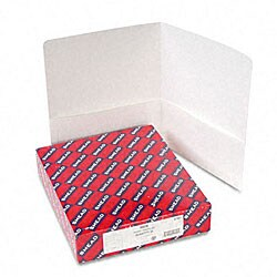 Smead White Recycled Two-Pocket Portfolios (25 per Box)