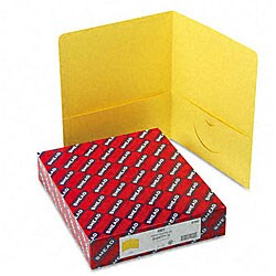 Smead Yellow Recycled Two-Pocket Portfolios (25 per Box)