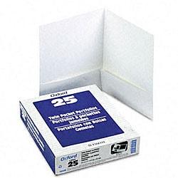 Linen White Twin-Pocket Portfolios (25 per Box)