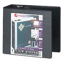 Wilson Jones Five-Inch Locking D-Ring Vinyl View Binder