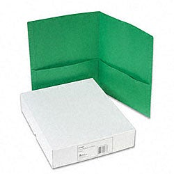 Avery Green Two-Pocket Portfolios (Case of 25)