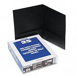 Linen Black Twin-Pocket Portfolios (25 per Box)