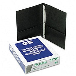 Twin Pocket Portfolios with Three Tang Fasteners (25 per Box)