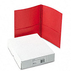 Avery Red Two-Pocket Report Covers with Prong Fasteners (25 per Box)