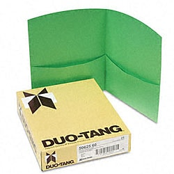 Contour Two-pocket Green Folders (Pack of 25)