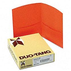 Contour Orange Two-Pocket Portfolios (25 per Box)