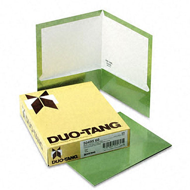 Metallic Two-Pocket Green Folders (25 per Box)