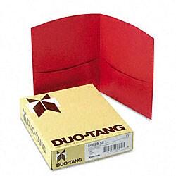 Contour Red Two-Pocket Portfolios (25 per Box)