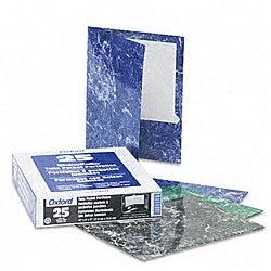 Marble Design High-Gloss Laminated Two-Pocket Portfolios (25 per Box)