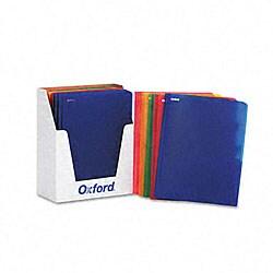 Oxford Translucent Twin-pocket Poly Portfolios (25 per Box)
