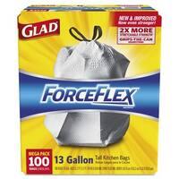 Clorex Glad ForceFlex 13-gallon Tall Kitchen Bags (Box of 100)