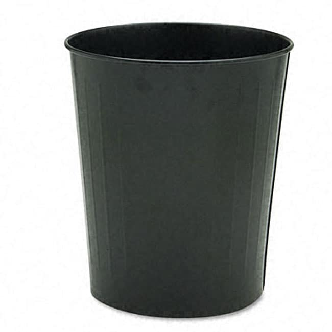 Black 23.5-quart Fire-safe Round Steel Trash Can