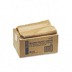 Kraft Waxed Paper Sanitary Napkin Receptacle Liners (500 per Carton)