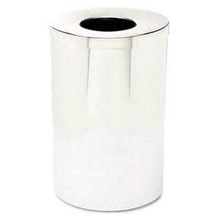Reflections 35-gallon Open Top Chrome Waste Receptacle